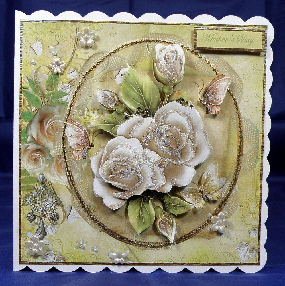 Cream Roses Mothering Sunday cup388967 8