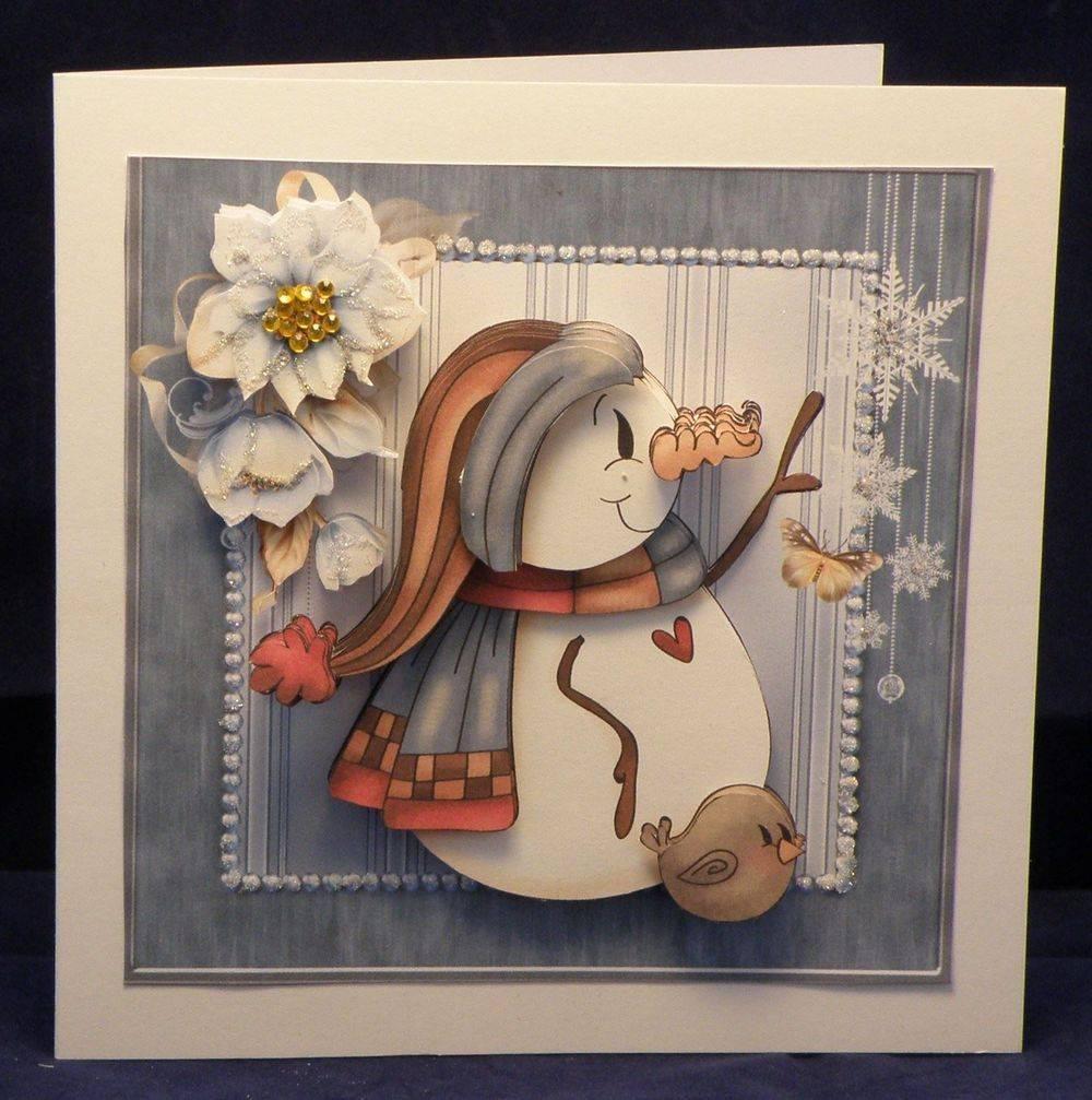 Snowman Robin & Snowflakes