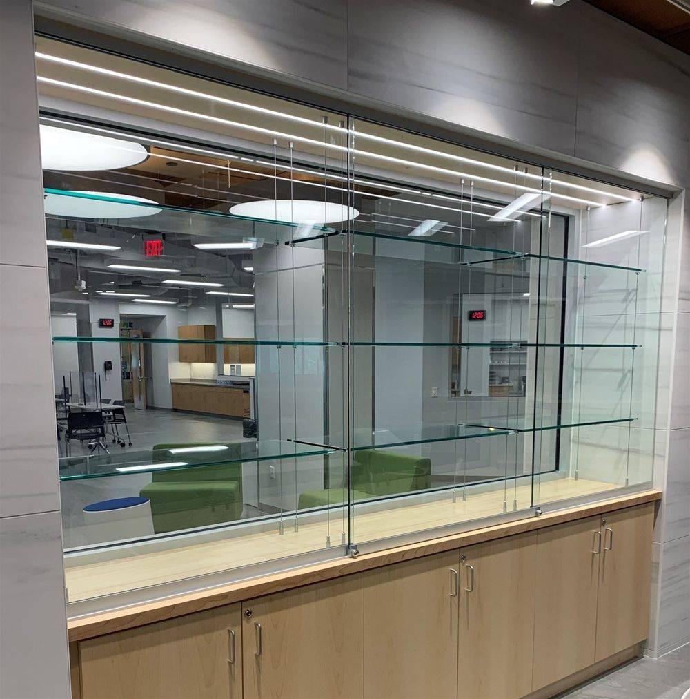 CUSTOM GLASS SHELVING by Century Glass