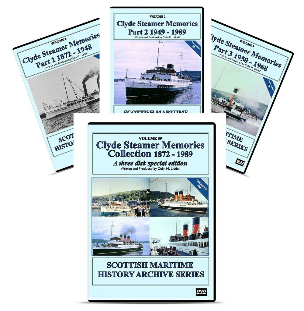 DVD Clyde Paddle Steamer ps waverley history british scottish maritime ship