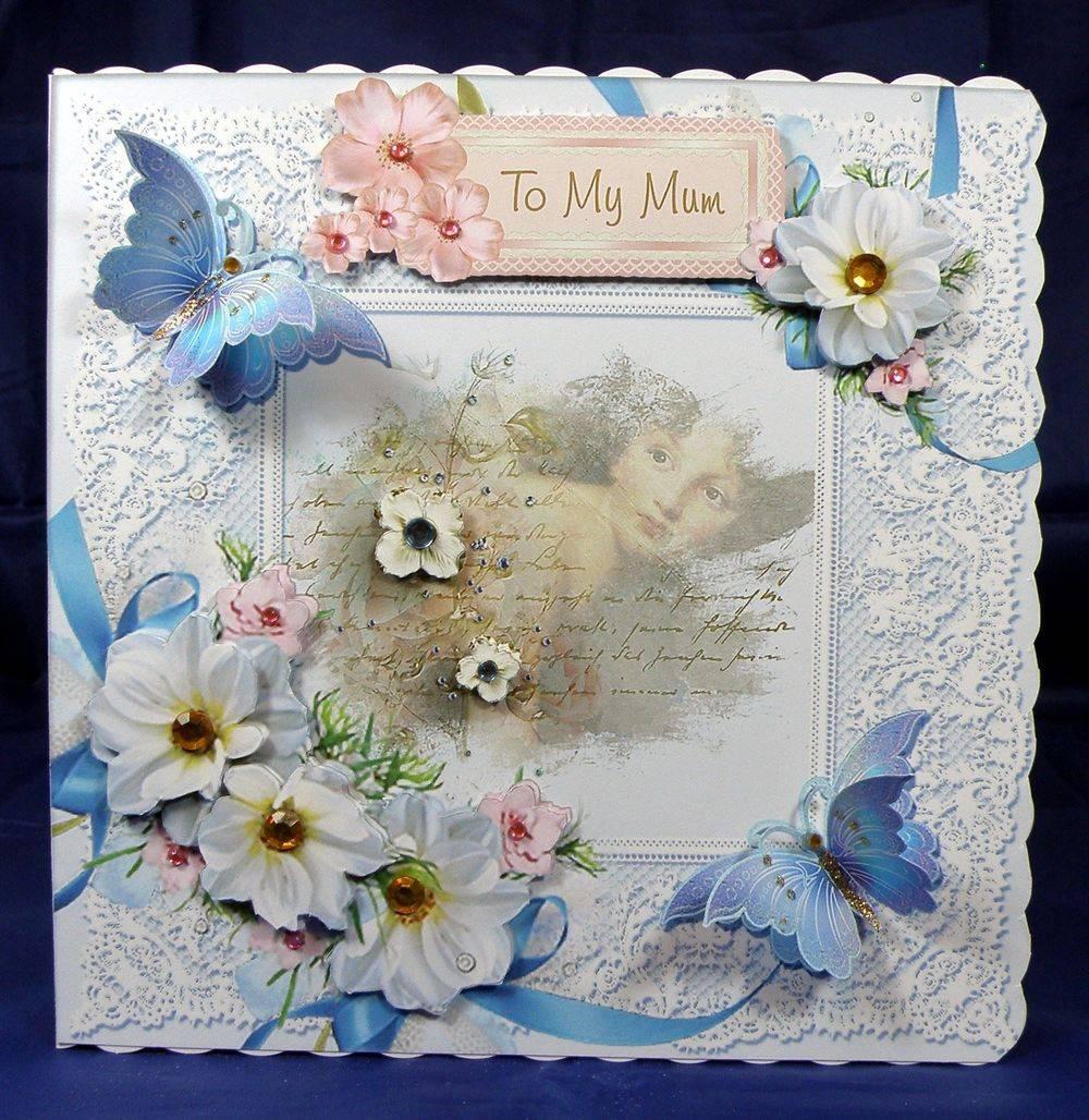 Dahlias and Blue Butterflies cup493054 692