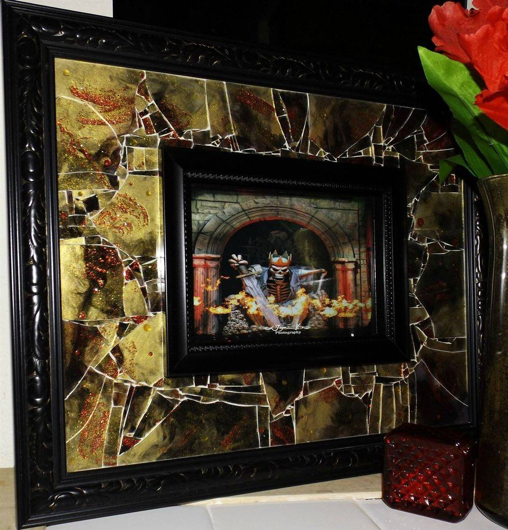 Avenged Skeleton King Shattered Mosaic Glass art by Glass by Priscilla