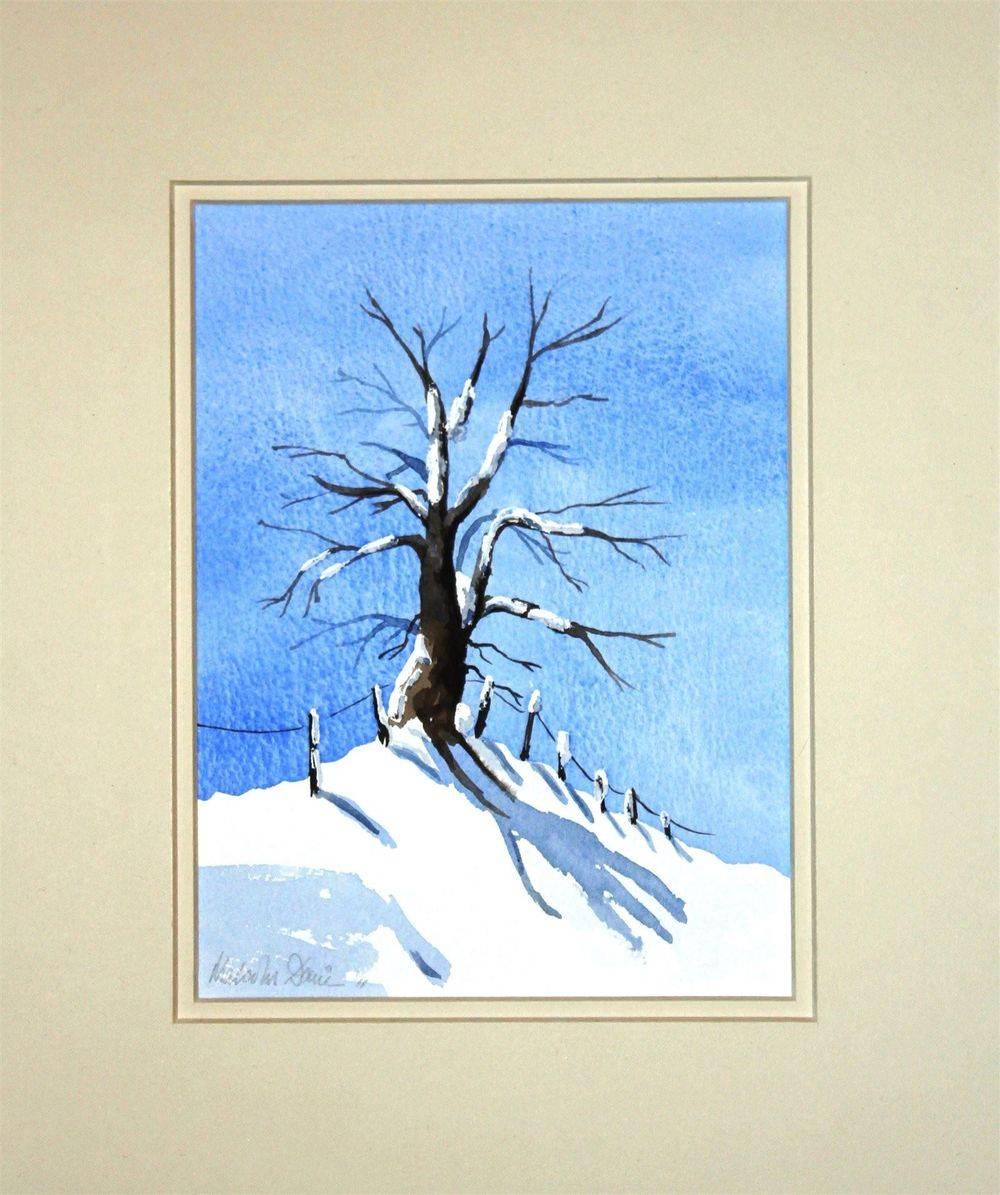 Tree in snow (watercolour) : £25