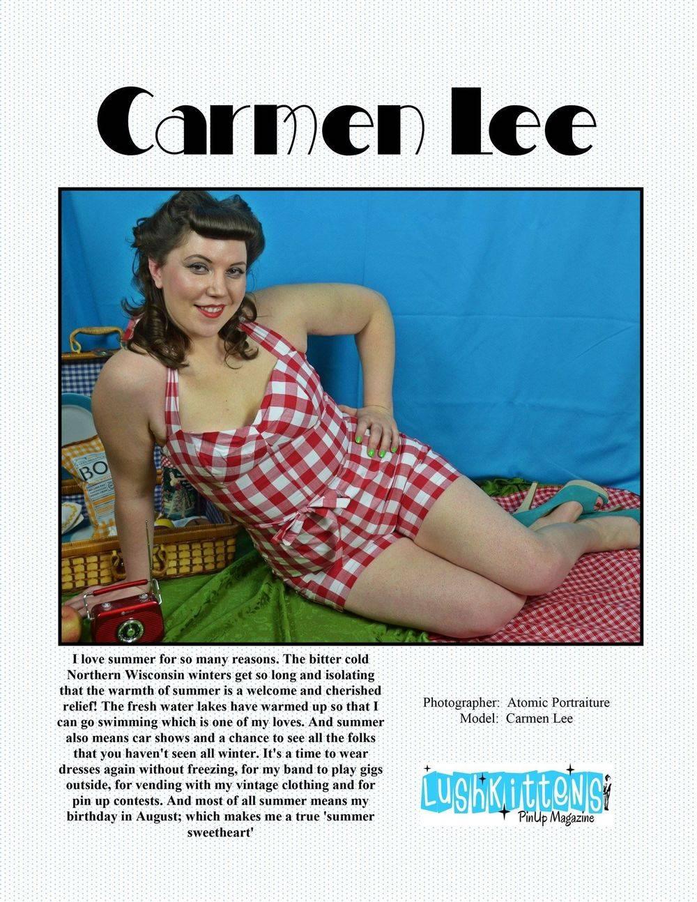 Lush Kittens Pinup Magazine Summertime Sweeties Edition