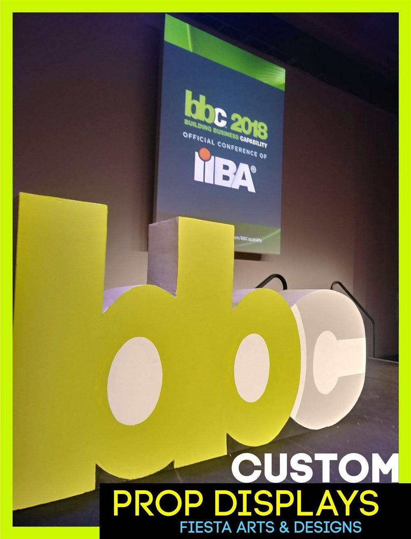 custom convention stage logo displays
