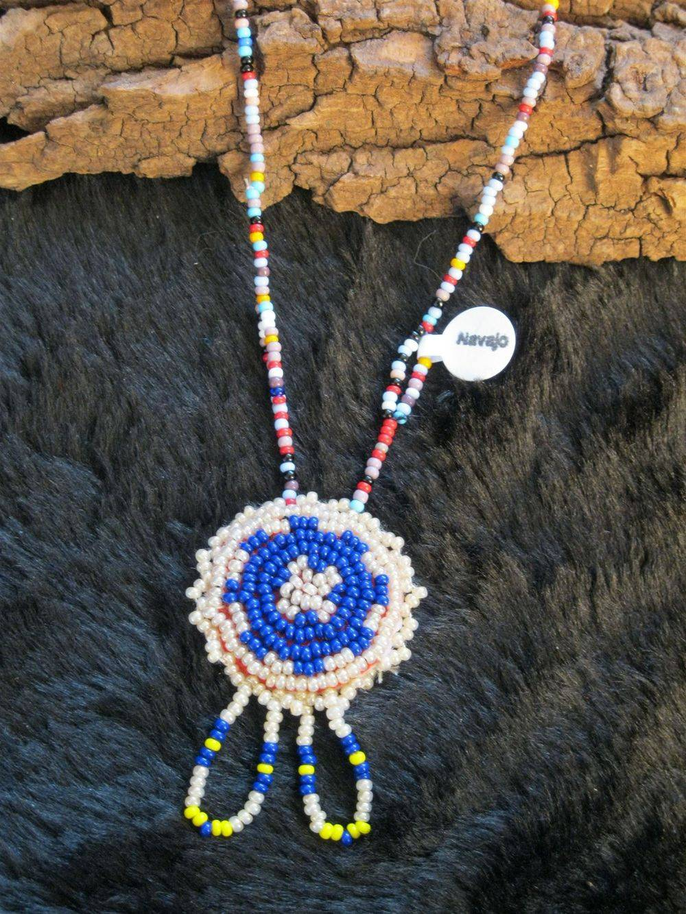 Ghost Beads, Turtle Beads, Rosette Beads, necklaces, Navajo, Genuine Native American, bead work, blue, white yellow, green, blue, red, black, brown