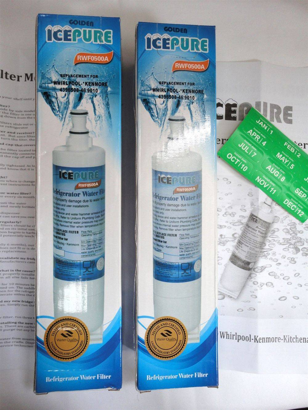 IcePure RFC0500A & RWF0500A replacement in-fridge-base water filter cartridge for Hotpoint & Whirlpool - www.aaafilterfast.com