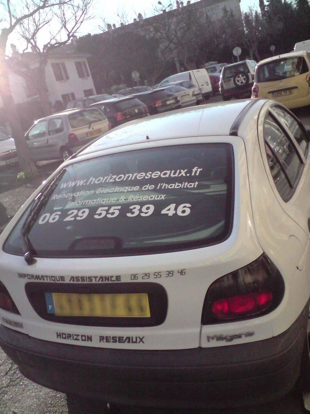 La voiture technique Horizon Réseaux Perpignan po.