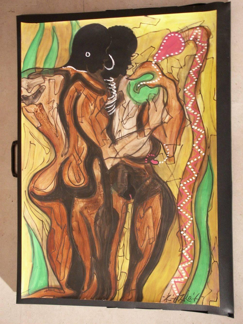 Adam & Eve 60 x 80 cm