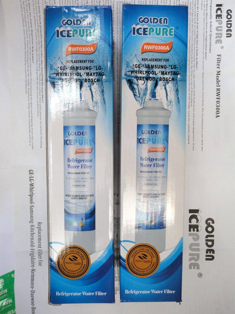 IcePure RFC0300A & RWF0300A replacement external in-line fridge ice water filter cartridge - www.aaafilterfast.com
