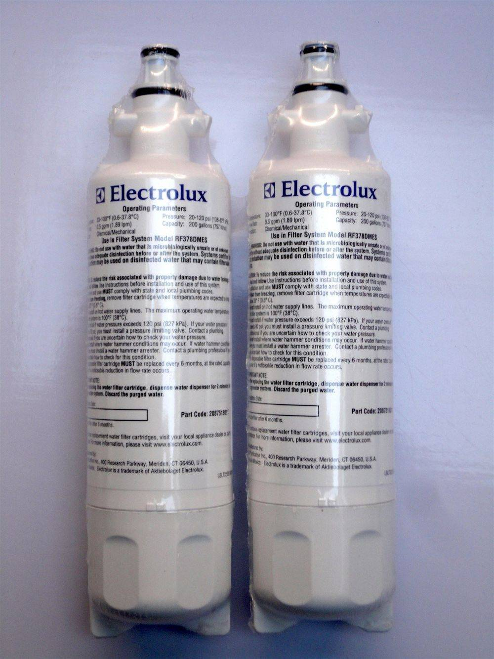 Husqvarna - Electrolux - 2087518011 - refrigerator fridge water filter cartridge - sold at www.aaafilterfast.com