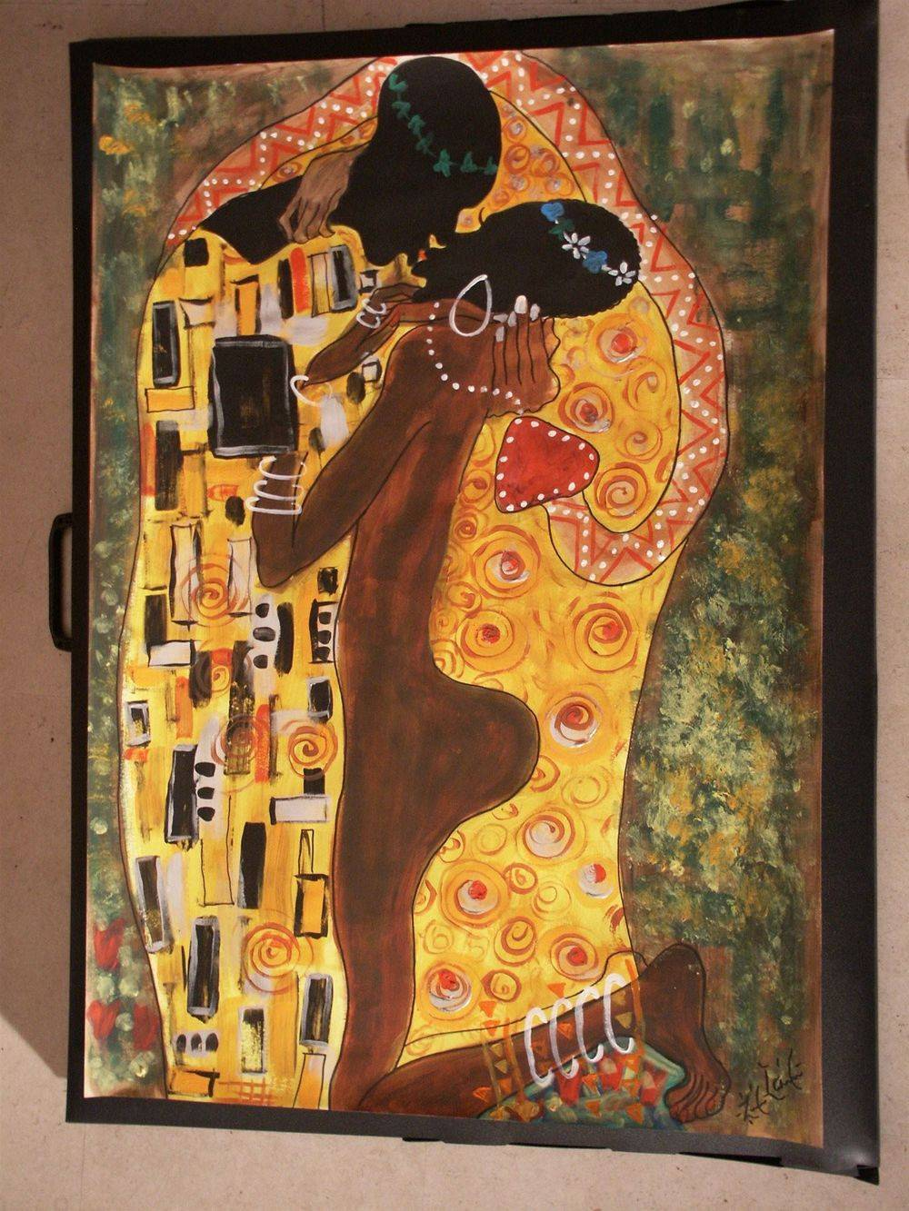 The African kiss 60 x 80 cm