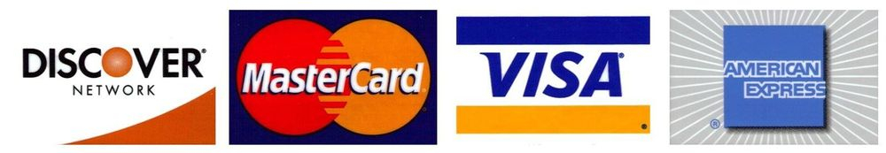 we accept all major credit cards logo, auburn, alabama, opelika, lee county