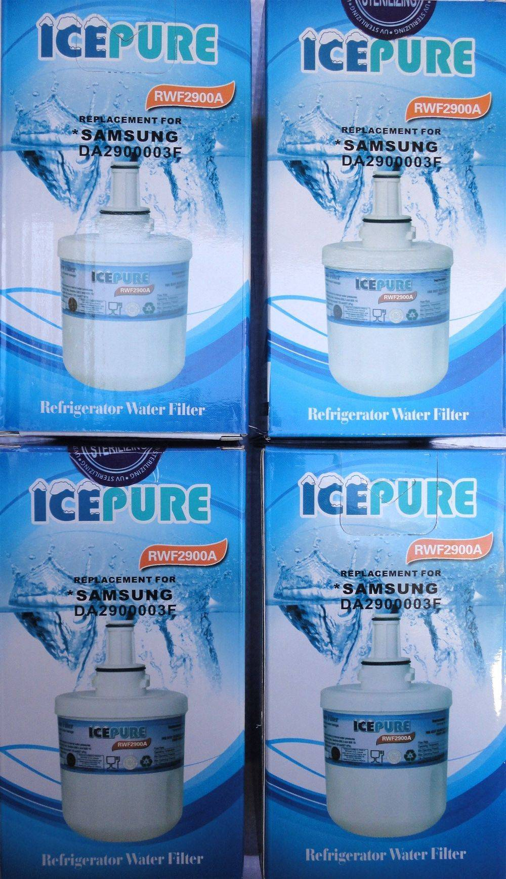 IcePure RFC2900A - RWF2900A - replacement refrigerator fridge ice water filter cartridge for Samsung Aqua-Pure Plus DA29-00003F - HAFIN1/EXP - DA97-06317A-B - sold & stocked at www.aaafilterfast.com