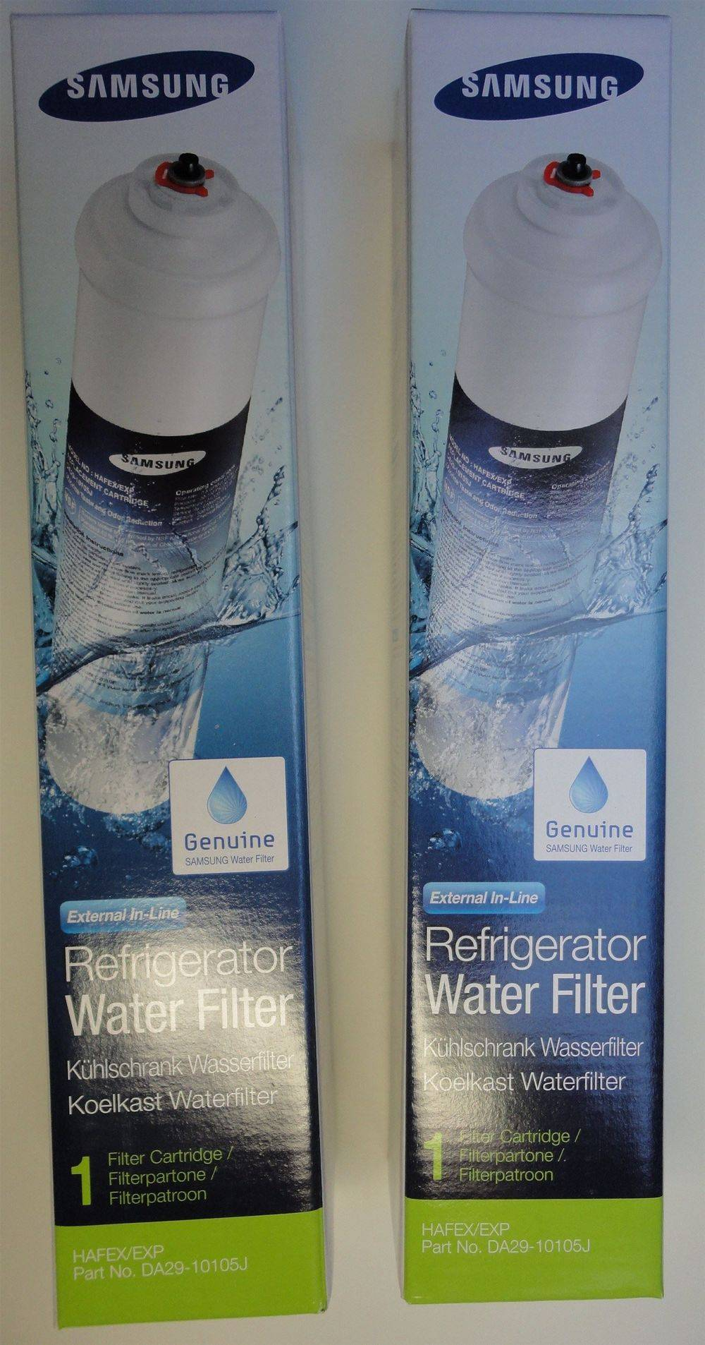 Samsung DA29-10105J & HAFEX/EXP replacement external in-line fridge ice water filter cartridge - www.aaafilterfast.com