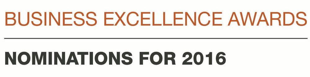 Nominee for Business Excellence Awards 2016