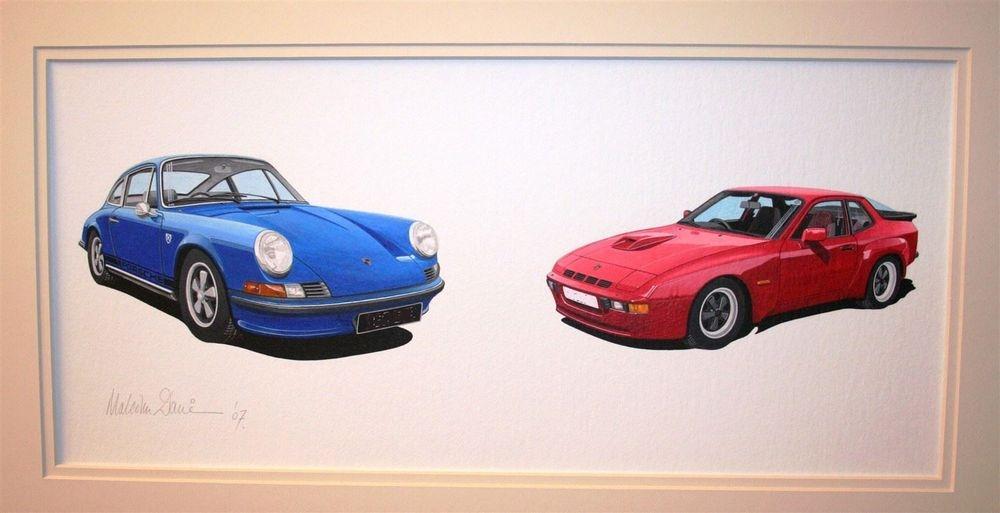Porsche 911E and 944 Turbo (Acrylic) : Commision (UK)