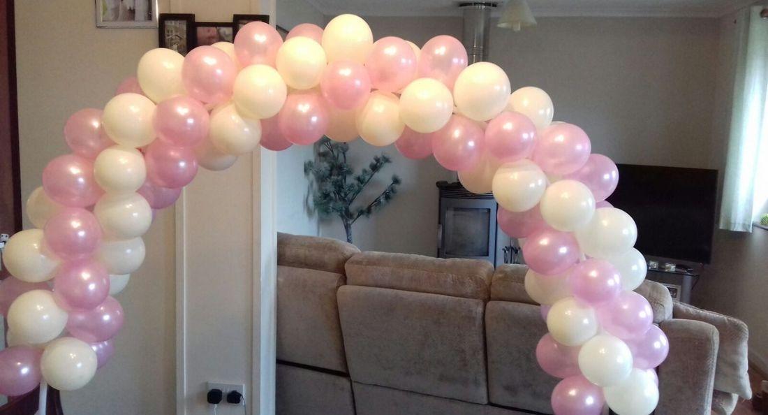 Air filled balloon arch
