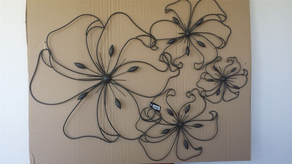 Large Metal Wall Art - Floral Cluster $60 84cm x 63cm :  Postage in NZ $20