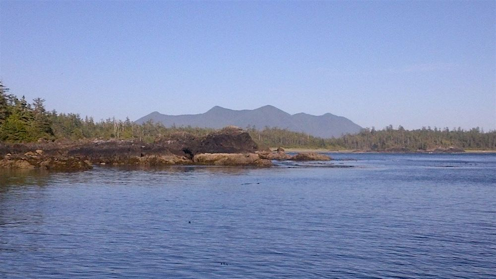 Looking back from the N. end of Ahous Bay on Vargas Island.