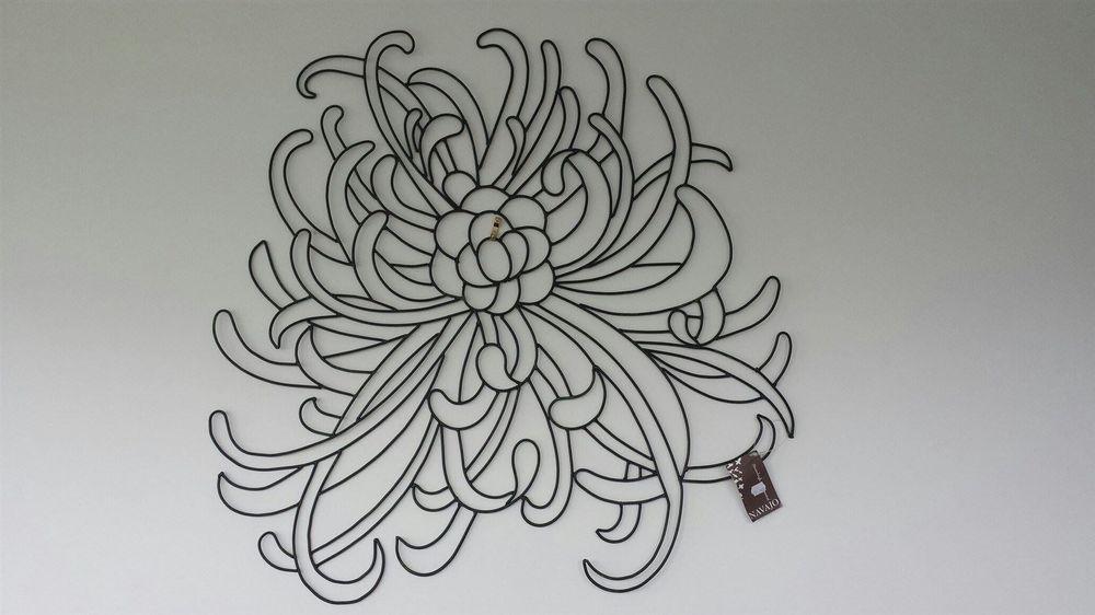 Large Metal Wall Art - Chrysanthemum $35 65cm x66cm : Postage in NZ $20