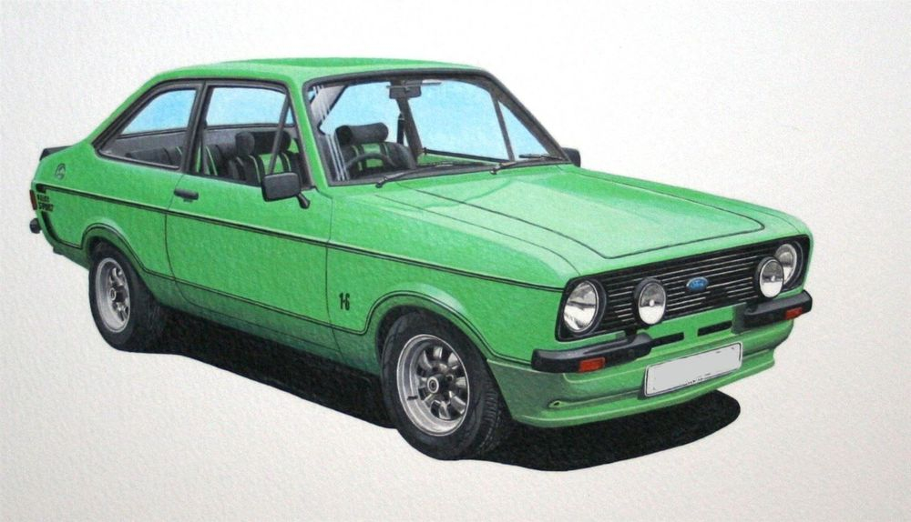 Ford Escort 1600 Sport (Acrylic) : Commission (UK)