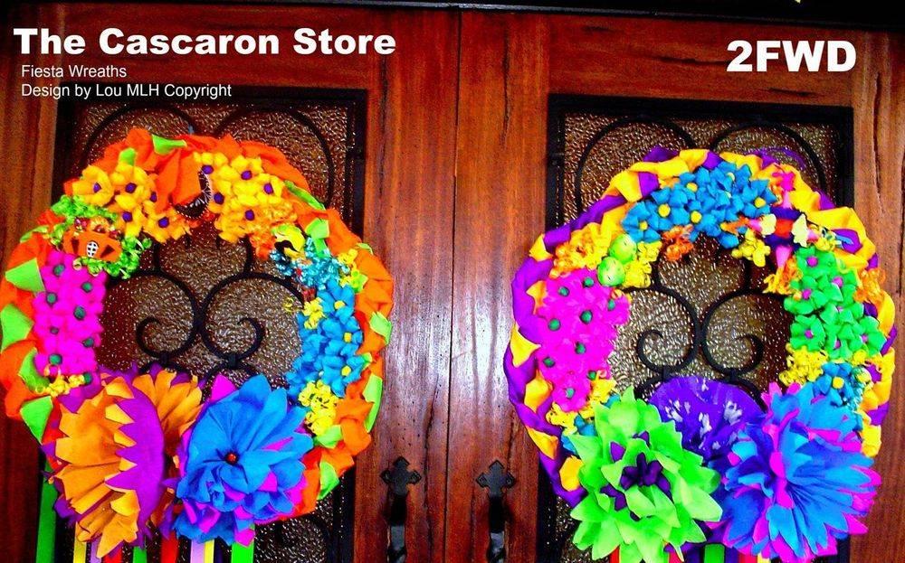 double door fiesta wreath