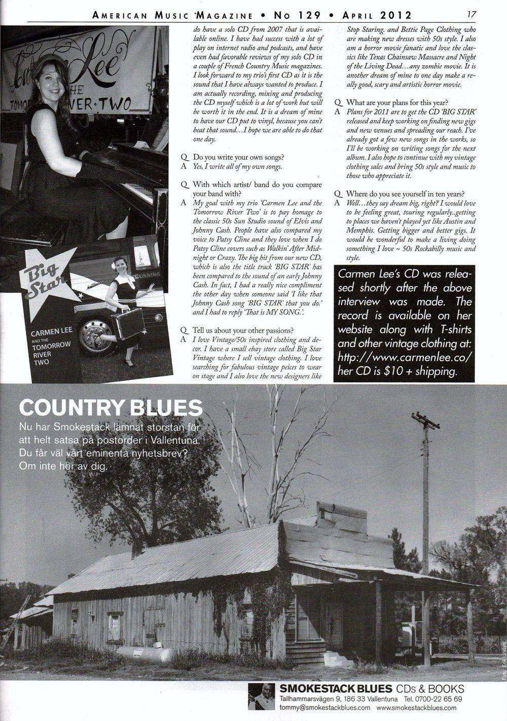 American Music Magazine April 2012
