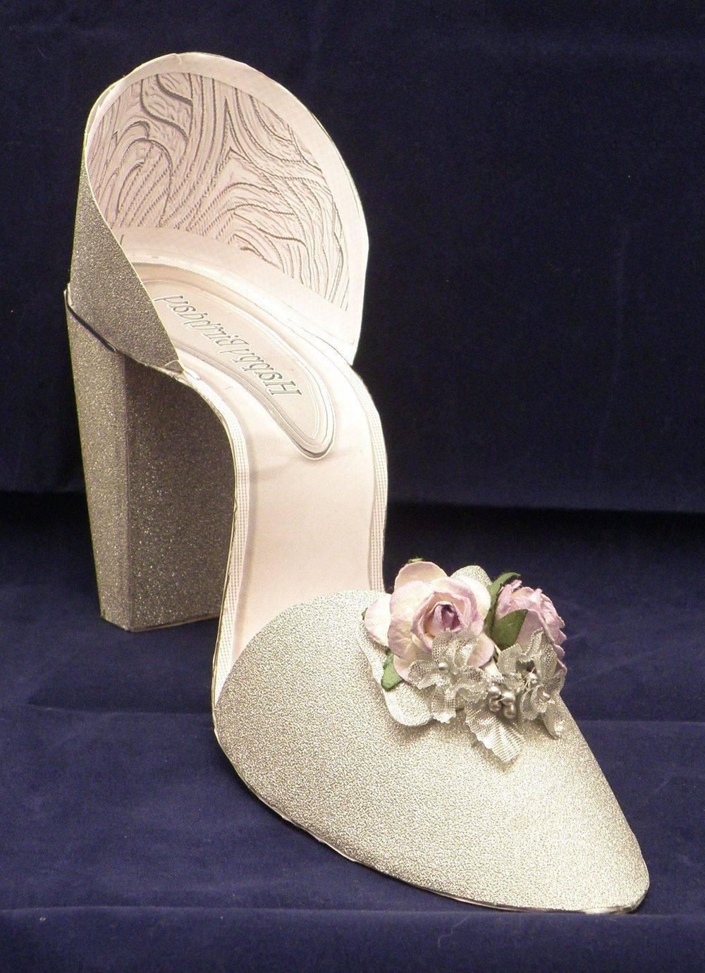 I Love Shoes - Silver Glitter - 3D shoe