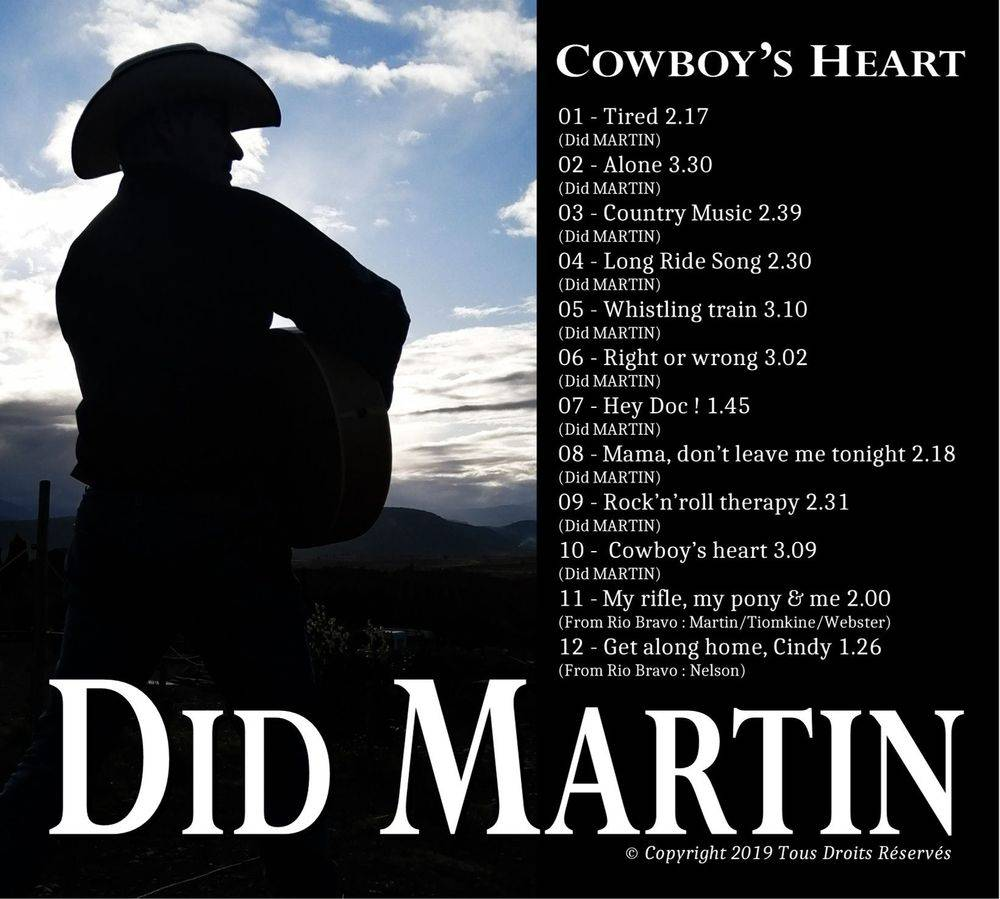 Did MARTIN chanteur Country Music
