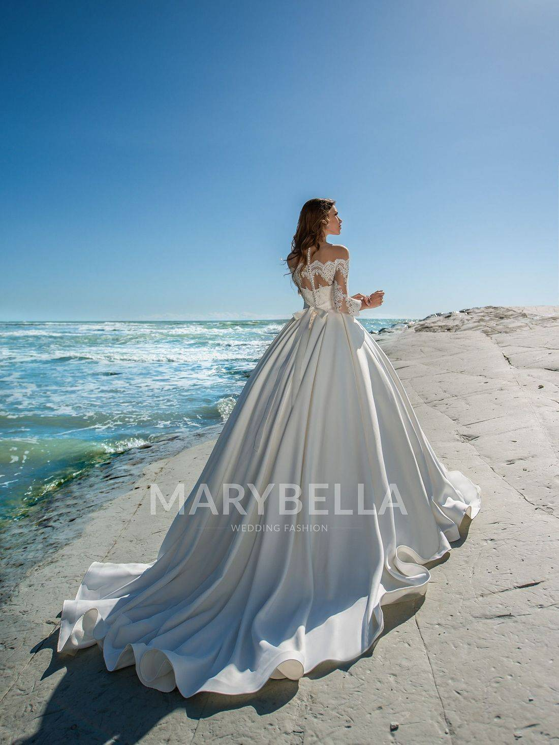 wedding dress with long train,simple wedding dress,modest wedding dress,wedding dresses