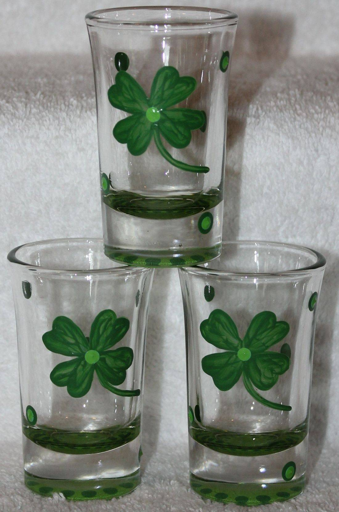 St Patty day shot glass