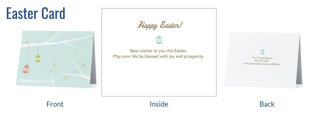 Custom Travel Agency Easter Cards
