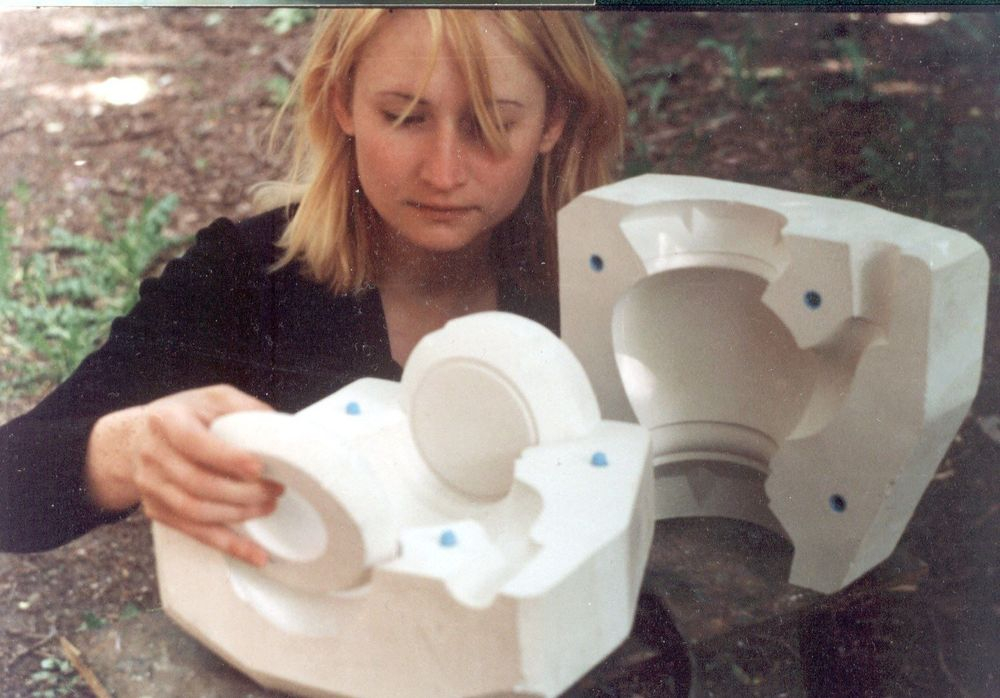at work with my diploma project (2001)