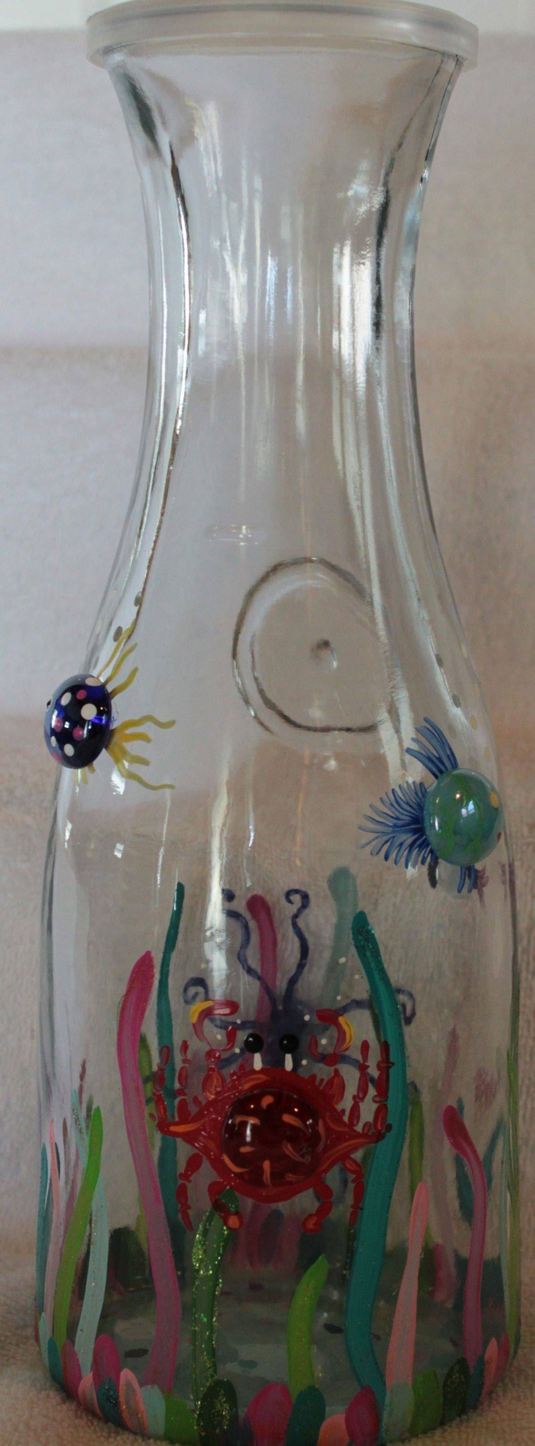 crab wine glass, octopus wine glass, nautical carafe