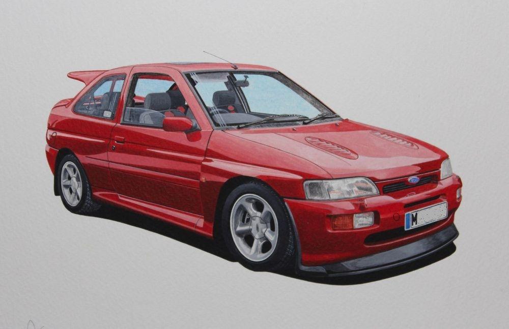 Ford Escort Cosworth (Acrylic) : Commission (UK)