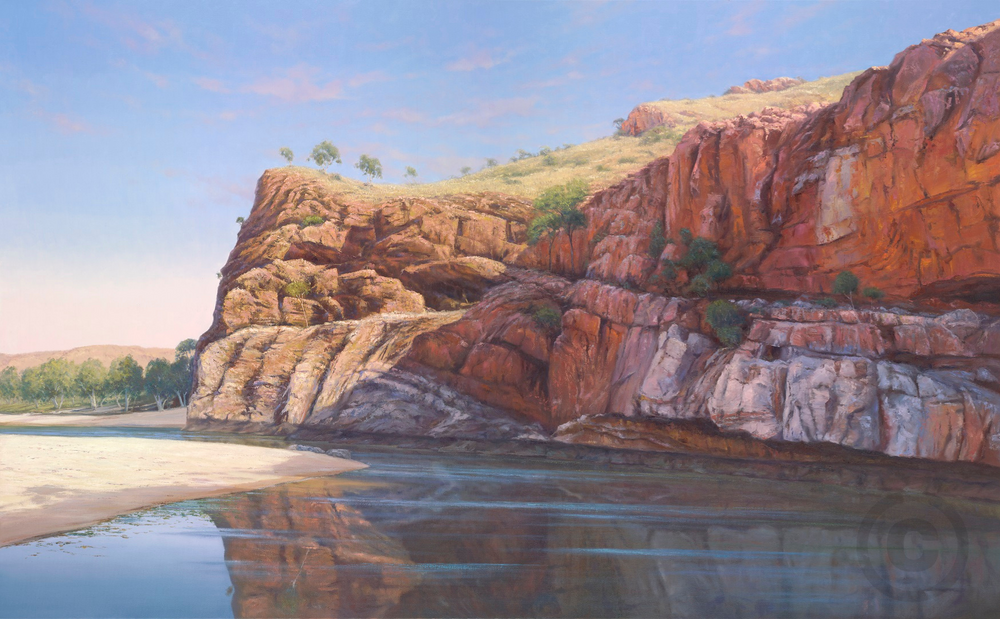 Ormiston Gorge West MacDonnell Range Oil Painting Giclee Print