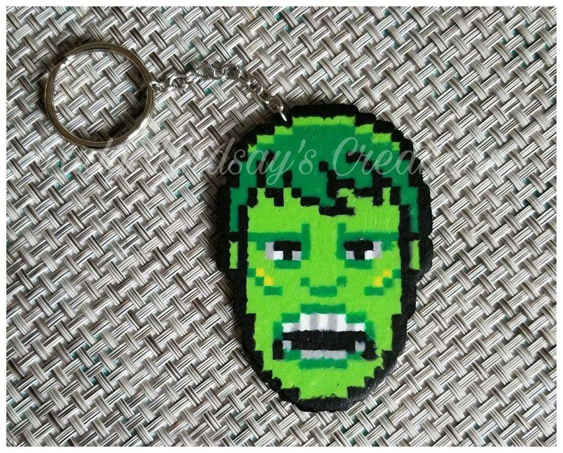The Hulk, Hulk, The Avengers, Nintendo, Pixels, Sprite, Fairy, Gamer, gaming, nerd, geek, handmade