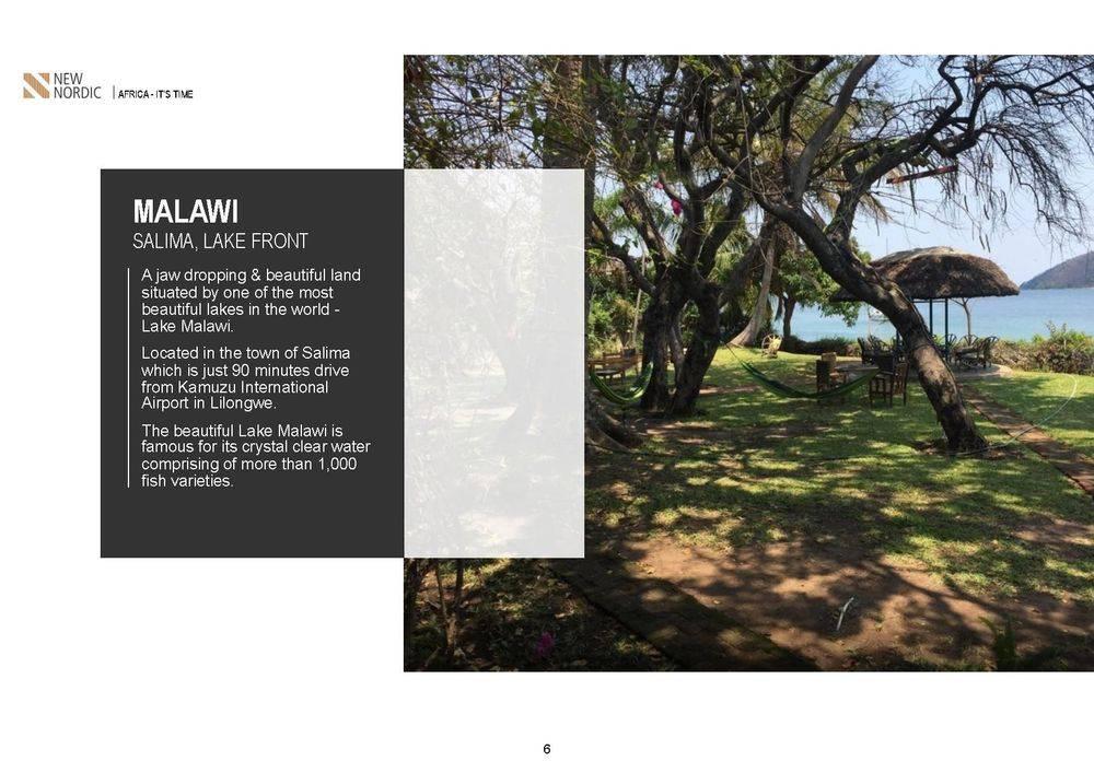 salima lakefront malawi, kamuzu international airport , british & far east traders & partners, new nordic africa, african investments