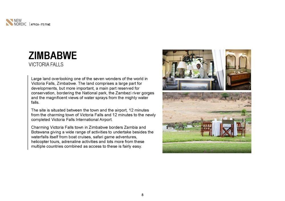 zimbabwe victoria falls ,malawi 5 star resort in the lake ,salima lakefront malawi, kamuzu international airport , british & far east traders & partners, new nordic africa, african investments
