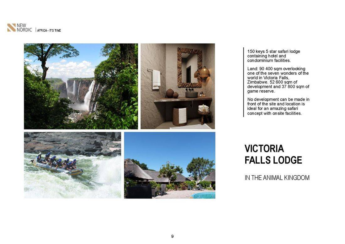 zimbabwe victoria falls ,malawi 5 star resort in the lake ,salima lakefront malawi, kamuzu international airport , british & far east traders & partners, new nordic africa, african investments