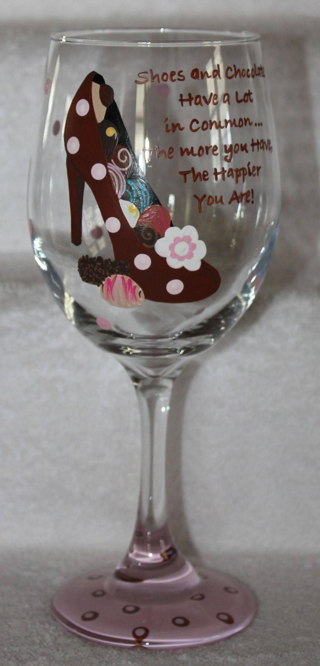 chocolate wine glass, shoe wine glass, chocolate glass, shoe glass