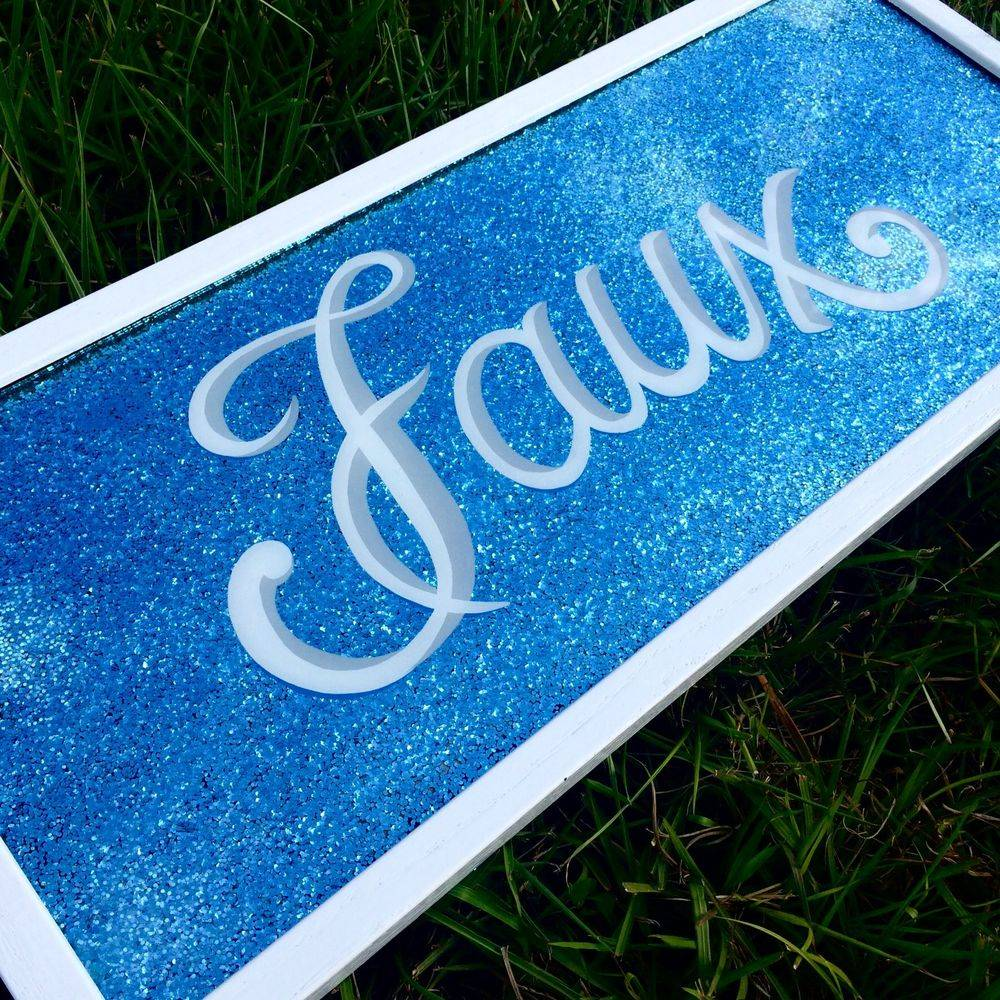 family name estate metal flake curisve