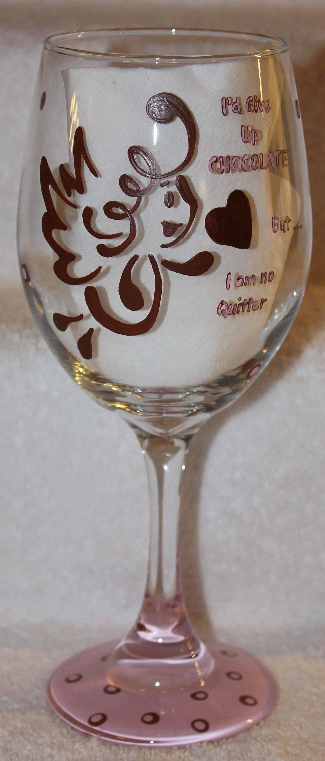 Chocolate wine glass, chocolate glass