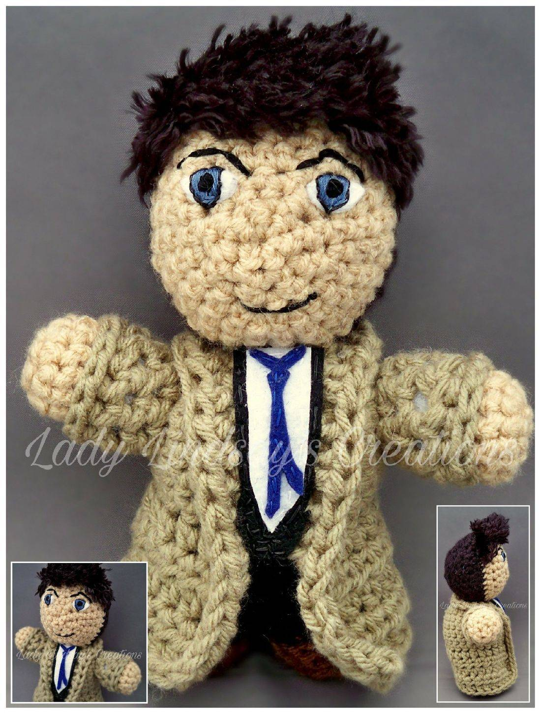 Archangel, Dean, Misha Collins, Supernatural, CW, Sam, Castiel, Amigurumi, Plush, Crochet, handmade, anime, manga, comicbook, nerd, geek, Otaku, superwholock, Etsy, ShopSmall