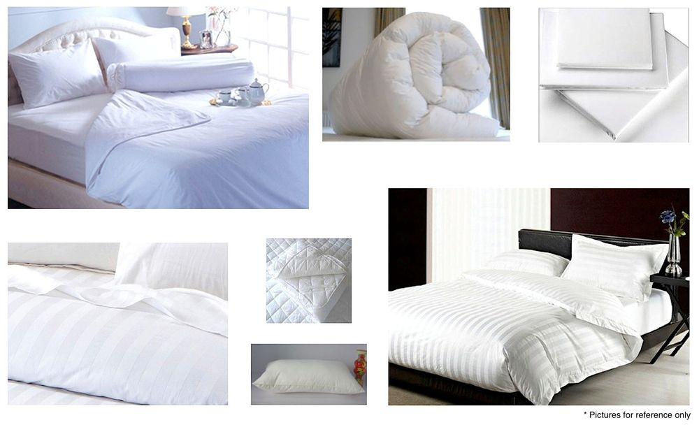 Hotel bedding and towels sample pictures