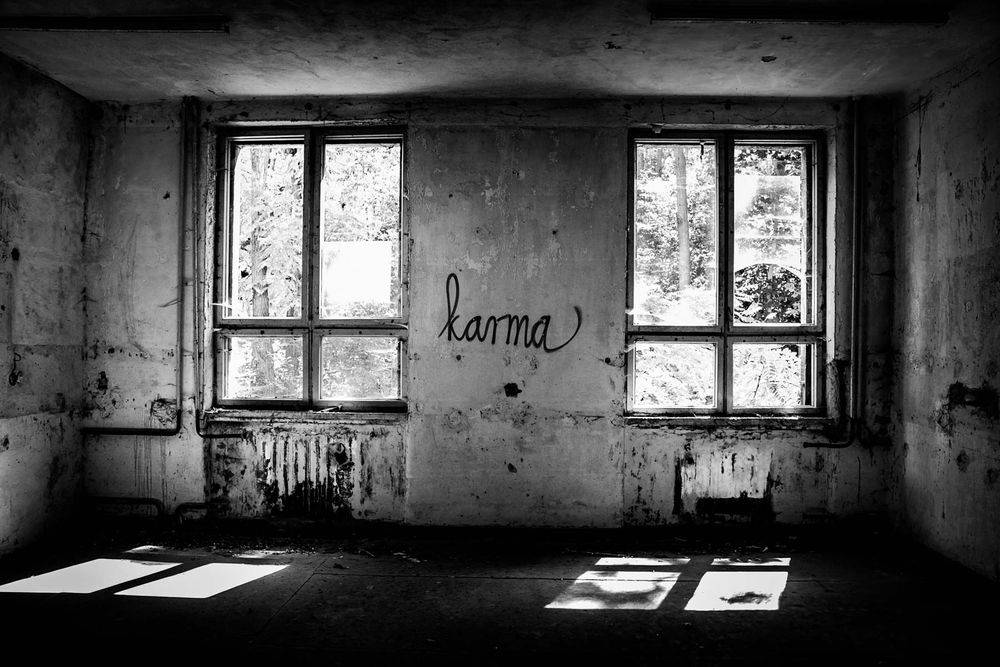 Stieven Rogiers Photography Karma  Fine Art Black and White picture