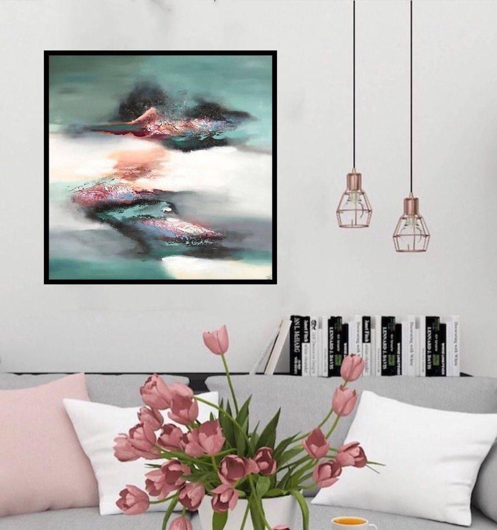 malerier-moderne-farverige-abstrakte-kunst-nr.241a