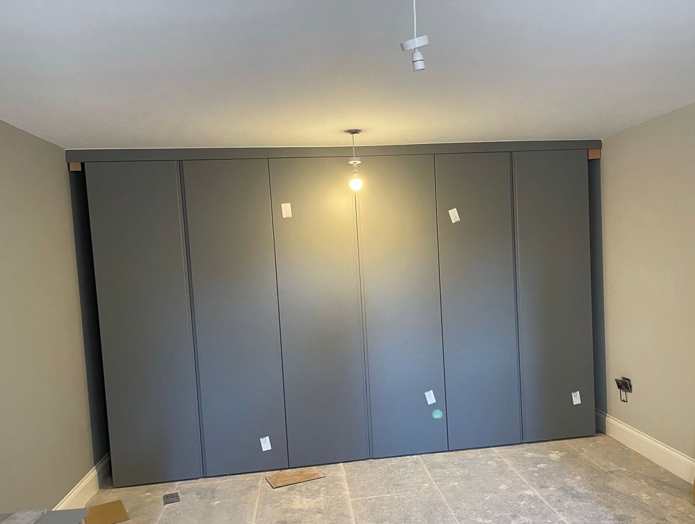 Fitted wardrobes going in