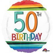 50th Birthday Holographic foil Balloon Delivered